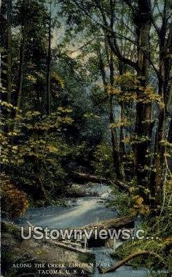 Creek, Lincoln Park - Tacoma, Washington WA Postcard