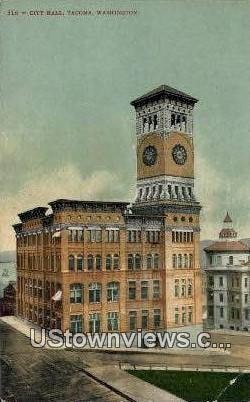 City Hall - Tacoma, Washington WA Postcard