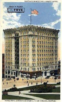 Hotel Frye - Seattle, Washington WA Postcard
