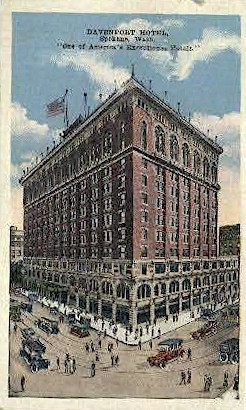 Devenport Hotel - Spokane, Washington WA Postcard