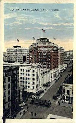 University Street - Seattle, Washington WA Postcard