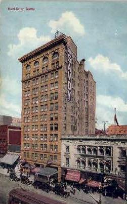 Savoy Hotel - Seattle, Washington WA Postcard
