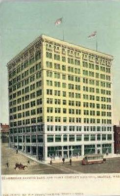 Amercan Savings Bank - Seattle, Washington WA Postcard