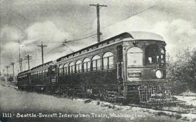Repro - Interurban Depot - Everett, Washington WA Postcard