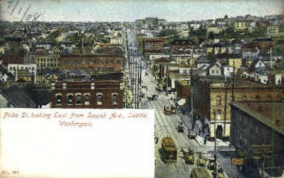 Picke Street - Seattle, Washington WA Postcard