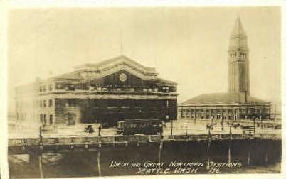 Northern Depot Real photo - Seattle, Washington WA Postcard