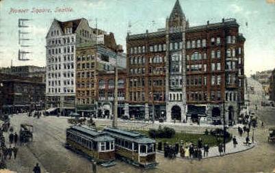 Pioneer Square - Seattle, Washington WA Postcard