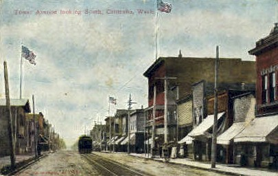 Tower Avenue - Centralia, Washington WA Postcard