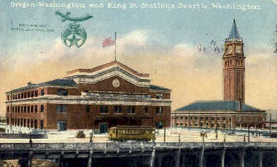 King Street - Seattle, Washington WA Postcard