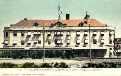 Spokane Electric Terminal - Washington WA Postcard