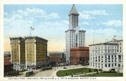 City Hall - Seattle, Washington WA Postcard