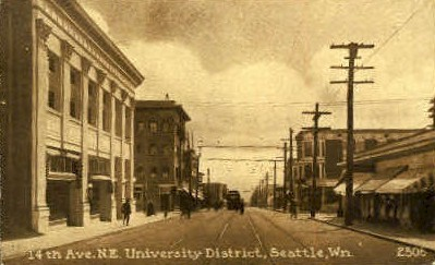 14th Avenue - Seattle, Washington WA Postcard