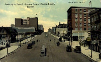 Jefferson Street - Seattle, Washington WA Postcard