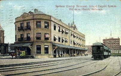 Spokane Electric Terminal - Washington WA Postcard