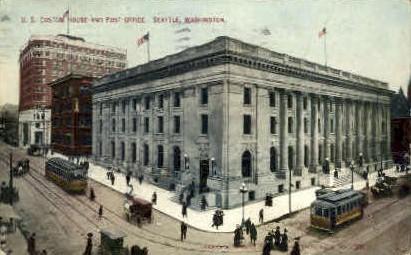 Post Office - Seattle, Washington WA Postcard