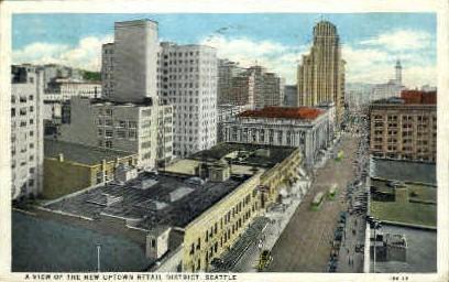 Retail District - Seattle, Washington WA Postcard