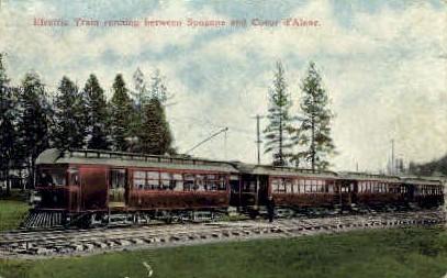 Spokane & Coeur D'Alene - Washington WA Postcard