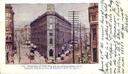 Yesler Way - Seattle, Washington WA Postcard