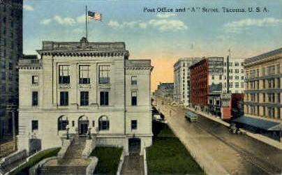 Post Office - Tacoma, Washington WA Postcard
