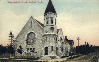 Congregational Church - Spokane, Washington WA Postcard