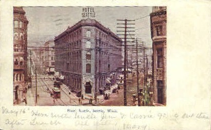 Seattle Hotel - Washington WA Postcard