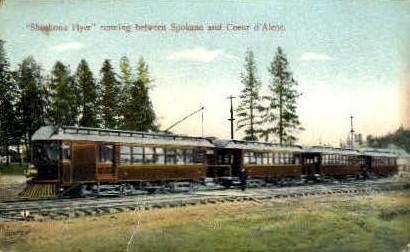Shoshone Flyer - Spokane, Washington WA Postcard