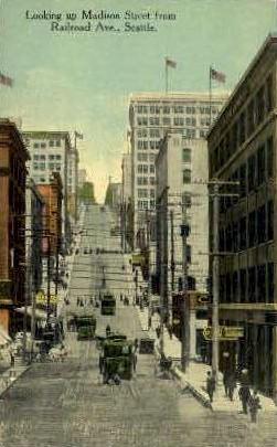 Railroad Avenue - Seattle, Washington WA Postcard