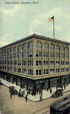 Finch Block - Aberdeen, Washington WA Postcard