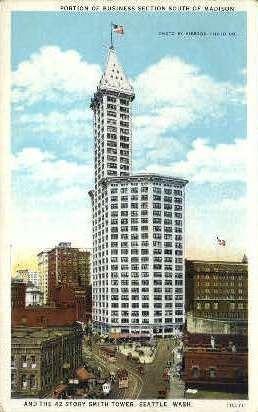 Business Section - Seattle, Washington WA Postcard