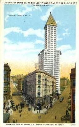 James Street - Seattle, Washington WA Postcard
