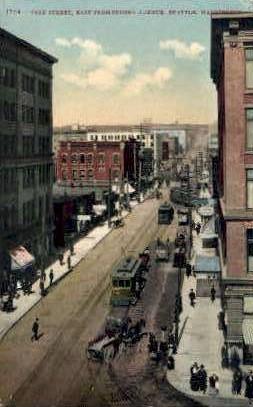 Pike Street - Seattle, Washington WA Postcard