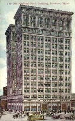 National Bank Building - Spokane, Washington WA Postcard