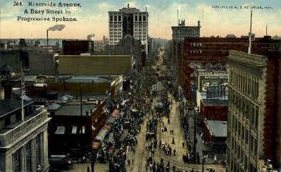 Spokane, Washington, WA Postcard