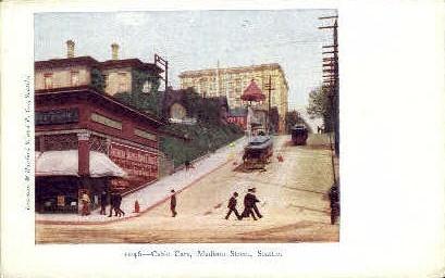 Madison Street - Seattle, Washington WA Postcard