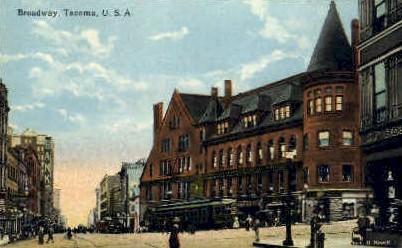 Broadway - Tacoma, Washington WA Postcard