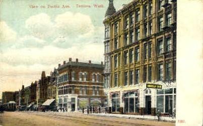 Pacific Aveneue - Tacoma, Washington WA Postcard