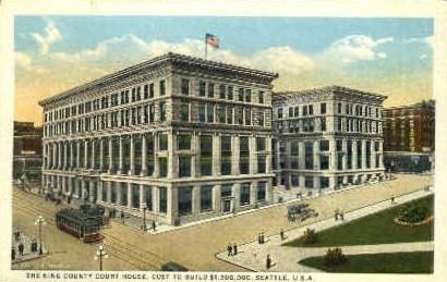 King County Court House - Seattle, Washington WA Postcard