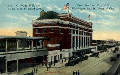 Trent Avenue - Spokane, Washington WA Postcard