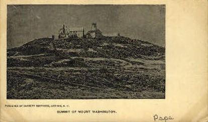 Mount Washington   - Mount Washington Postcards Postcard