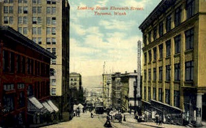Eleventh Street - Tacoma, Washington WA Postcard