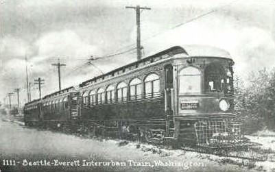 Reproduction - Interurban Train - Seattle, Washington WA Postcard