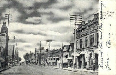 Main Street - Olympia, Washington WA Postcard