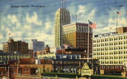 Skyline - Seattle, Washington WA Postcard