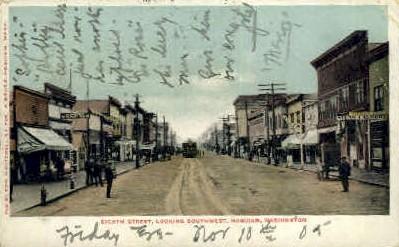 Eighth Street - Hoquiam, Washington WA Postcard