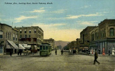 Yakima Avenue - Washington WA Postcard