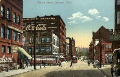 Howard Street Coca Cola Sign - Spokane, Washington WA Postcard