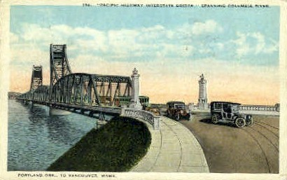 Pacific Bridge - Vancouver, Washington WA Postcard