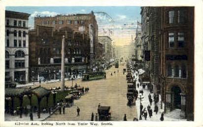 1st ave - Seattle, Washington WA Postcard