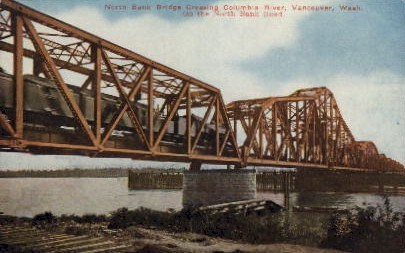 North Bank Bridge - Vancouver, Washington WA Postcard