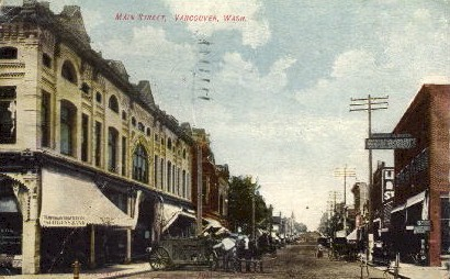 Main Street - Vancouver, Washington WA Postcard